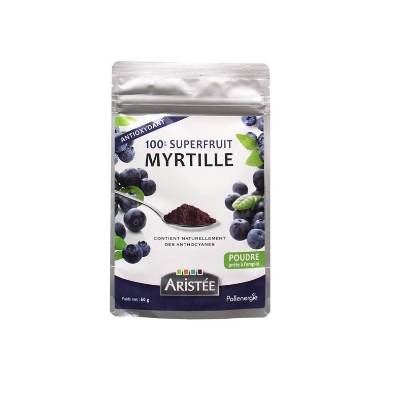 100 % Superfruit Myrtille__BR__Poudre concentrée, délicieuse & bénéfique pour l'organisme