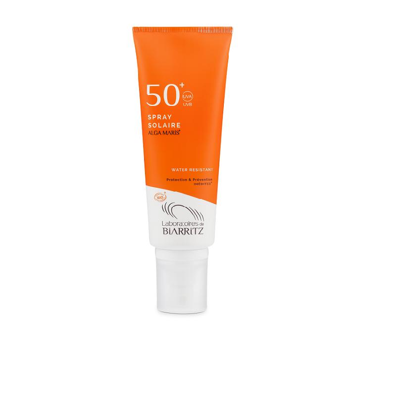 Spray solaire SPF50 BIO__BR__Protège votre peau et le microcosme marin